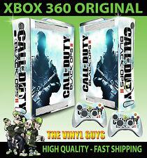 XBOX 360 BLACK OPS II LUCE Call of Duty console ADESIVO SKIN NUOVO E 2 SKIN PER PAD