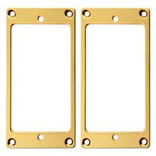 2 Pieces Flat Metal Humbucker Pickup Mounting Ring Gold