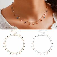 Colorful Candy Balls Pendant Necklace Choker Clavicle Chain Women Jewelry Gifts