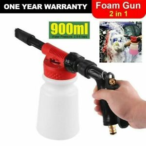 900ml Snow Foam Lance Cannon Spray Gun Kit Car Wash Uses Hose Pipe Sprayer UK