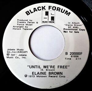 ELAINE BROWN Until We're Free VINYL 45 PROMO Soul Motown Black Forum Record 1973
