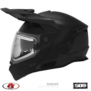 New 2021 509 Delta R4 Ignite Snowmobile Modular Helmet w/ electric Black Ops MD