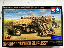 TAMIYA 1/48 WW II GERMAN HALFTRACK 251/1 AUSF. D STUKA ZU FUSS MODEL # 32566 F/S