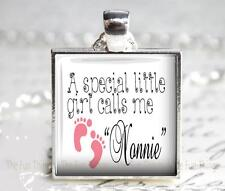 A Special Little Girl Calls Me Nonnie Grandma Glass Top Pendant Charm Baby Girl