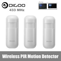 3x Digoo DG-HOSA 433MHz Wireless PIR Motion Detector Home Security