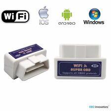 Super Mini ELM327 WiFi OBD2 Car Diagnostics Scanner Scan Tool - White