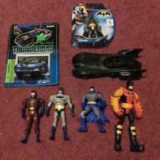 BATMAN ACTION FIGURE LOT WITH CAR AND BATMOBILE - BATMAN LOT
