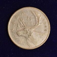 Canada Silver 25 Cent - 1944 - Average Circulated coin for your collection.