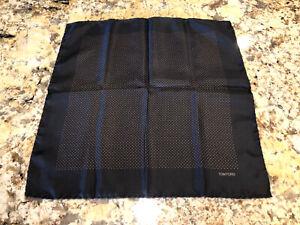 Tom Ford Pocket Square Black With Polka Dots EUC