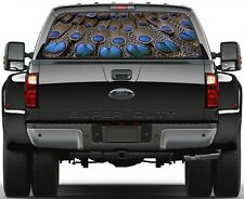 Peacok Feathers Painting Rear Window Graphic Decal for Truck Van Car