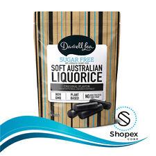 Soft Australian Sugar-Free Black Licorice - Darrell Lea 4oz Bag - NON-GMO Kosher