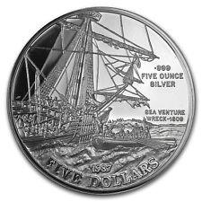 1987 Bermuda Proof 5 oz Silver 5 Dollars Sea Venture
