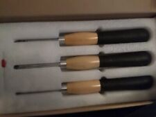 Mini Ergonomic Carbide Turning Tools, 3Piece Set/Carbide Woodturning Tools Set