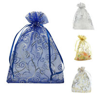 100pcs 4x6 Inches Drawstrings Organza Gift Candy Bags Wedding Favors Bags Z2Y7