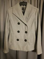 Women's Pea Coat Double-Breasted ~ Rampage Brand ~ Gray~ Size Small