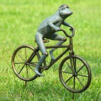 Frog on Bicycle Garden Statue Sculpture by SPI Home 33810