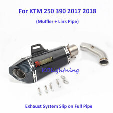 For KTM 250 390 Motorcycle Exhaust System Slip on Muffler + Linking Middle Tube