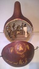 African gourd commerce équitable nativité set
