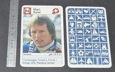 CARTE COUREUR AUTOMOBILE 1984 FORMULE 1 GRAND PRIX F1 MARC SURER SUISSE ARROWS