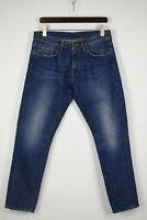 Carhartt Vicious Pant Homme W33 L30 Bleu Déchiré Jeans Coupe Slim 34651-GS