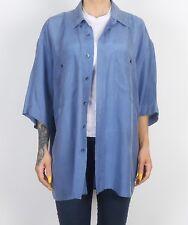 Silk Shirt 90's UK Men's XL  Women's 20 XXXL Oversized 16 18 XL XXL   (73D)