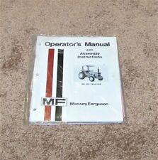 Massey Ferguson Mf 245 Tractor Operators Manual Assembly Instructions Farm New