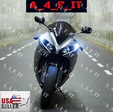 White Amber Motorcycle CREE LED Plate Accent Street Glow  Projector Bolt Light