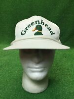 Vintage Green Head White Strap back Hat Cap Fast Free Shipping