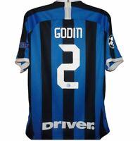 2019-2020 Inter Milan #2 Godin Home Football Shirt, Nike, XXL (Very Good)