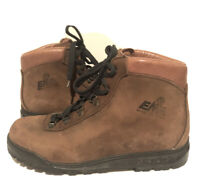 EMS Womens 9.5 Nubuck Leather Hiking Mountaineering Boots ITALY Vibram Shoes