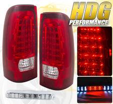 1999-2003 GMC SIERRA TRUCK CARGO BED LED 3RD BRAKE STOP TAIL LIGHT LAMP PAIR RED