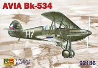 AVIA Bk-534 (CZECHOSLOVAK, POLISH, SLOVAK & LUFTWAFFE MKGS) #186 1/72 RS MODELS
