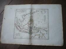 CARTE ILES DE LA SONDE MOLUQUES PHILIPPINES CAROLINES MARIANES VAUGONDY 1806