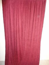 """CROSCILL CRUSHED CHENILLE CLARET RED (PAIR) CURTAINS PANELS 42 X 84"""""""