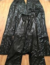 Youth Dance Leotard Pants Wet Look Shiny Black Costume Lot of 6 S-M FREE SHIP