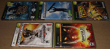 5 XBOX GAMES inc UNREAL & UNREAL II, THE TWO TOWERS, AMPED- EXCELLENT