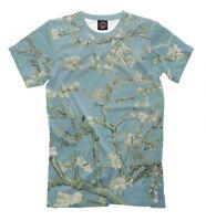 Vincent van Gogh Almond Blossom art t-shirt all over print tee full printed