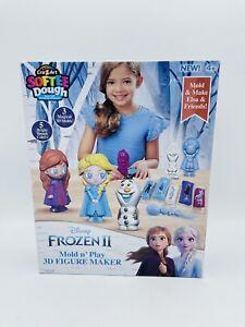 Frozen II Mold Play 3D Figure Maker Fun Softee Dough Cra Z Art Anna Elsa Olaf 4+