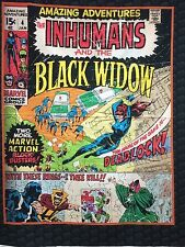 CAMELOT   BLACK WIDOW  PANEL MARVEL COMICS   FABRIC  GREAT  PRICE ONLY  £ 10.90