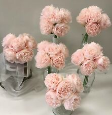 6 x WEDDING FLOWERS BOUQUET BLUSH PINK PEONY PEONIES FLOWER BRIDAL BOUQUETS SOFT