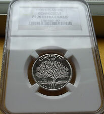 1999-S NGC PF70 ULTRA CAMEO CONNECTICUT CLAD STATE QUARTER .25C