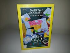 National Geographic Curiosity Kits World Geography Wooden Puzzle Activity Kit