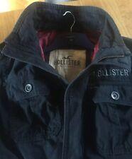 Men's Hollister Navy Lined Jacket. Size Large