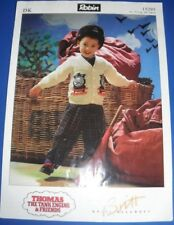Robin Kids Donald/Douglas Thomas The Tank Engine cardigan Knitting Pattern 15295