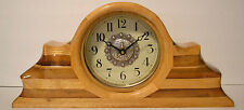 Mantle/Shelf Clock. Hand Crafted, Solid Wood with Quartz Movement