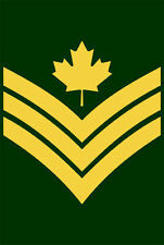 "5"" sergeant canada canadian army ssi helmet car bumper decal sticker"