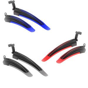 Uticon Parafango per bicicletta colore nero 1 paio di parafango anteriore e posteriore in plastica