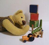 Künstlerbär artist bear Petra VALDORF Teddybär Bär gemarkt Zertifikat SUPER RAR