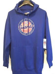NFL New York Giants Womens Classic 1925 Logo Fleece Sweatshirt Hoodie Blue 2XL
