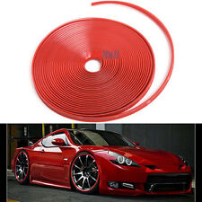 8M Red Car Wheel Hub Rim Edge Protector Ring Tire Guard Sticker Rubber Strip US